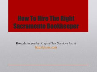 How To Hire The Right Sacramento Bookkeeper