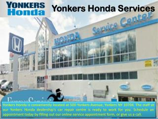 Reliable Honda Service in Yonkers