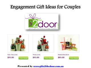 Engagement Gift Ideas for Couples Online at Gifts2thedoor