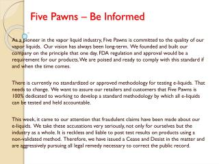 Five Pawns – Be Informed