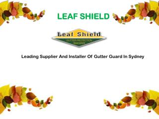 Leading Supplier And Installer Of Gutter Guard In Sydney