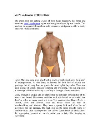 Men's underwear by Cover Male