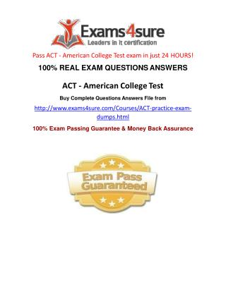 ACT Questions Answers