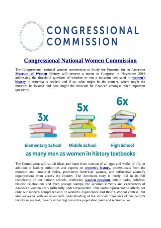 Congressional National Women Commission