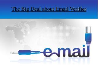 The Big Deal about Email Verifier