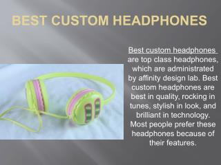 Promotional headphones