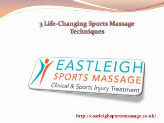 3 Life-Changing Sports Massage Techniques