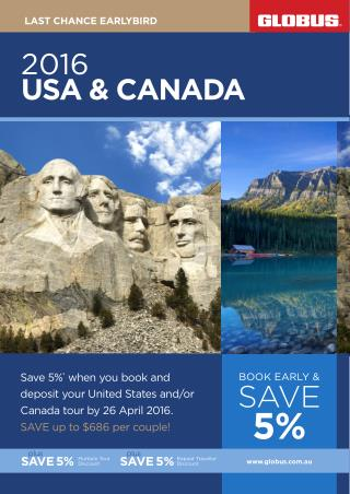 2016 USA and Canada Cheap Travel Packages  Globus Tours
