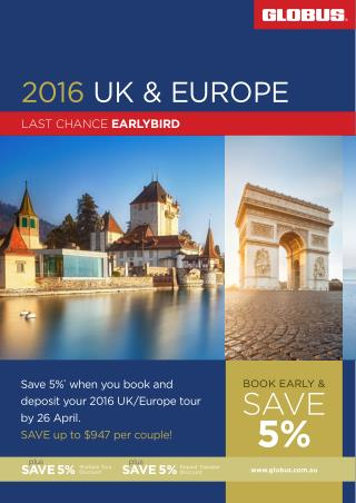 2016 UK and Europe Cheap Tour Packages | Avalon Waterways