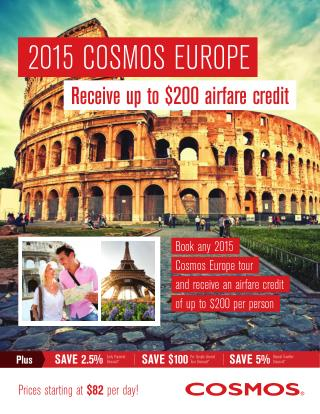 Best Value Holiday Packages | Cosmos Tours