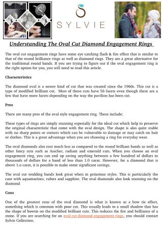 Understanding The Oval Cut Diamond Engagement Rings
