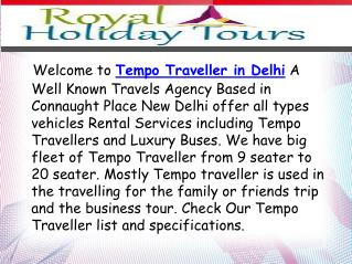 Rent Luxury Tempo Traveller for Group Tours