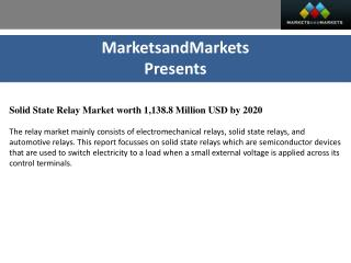 Solid State Relay Market by mounting - 2020 | MarketsandMarkets