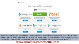 Checking and claiming Chromecast offers on an Android or iOS device