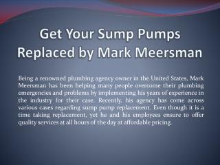 Simple Plumbing Repair Tips from Mark Meersman