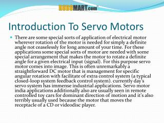Servo Motor India - Robomart