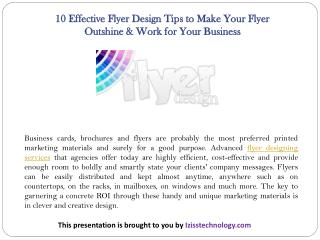 10 Effective Flyer Design Tips to Make Your Flyer Outshine & Work for Your Business