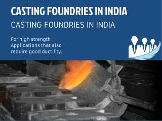 Casting foundries in India Use Alloys