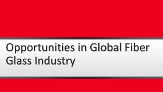 Opportunities in Global Fiber Glass Industry