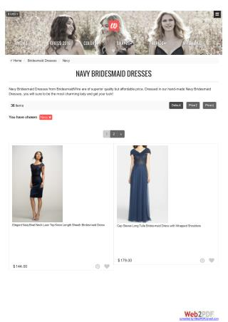 Navy bridesmaid dresses - Bridesmaidwire.com