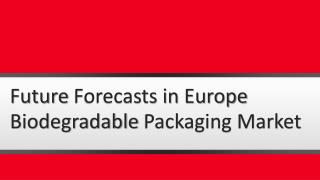 Future Forecasts in Europe Biodegradable Packaging Market