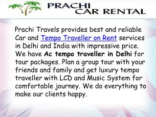 Tempo Traveller Booking in Delhi