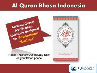 Al Quran Bhasa Indonesia mp3 Android application