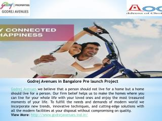 Godrej Avenues Apartments in Bangalore, Yelahanka Main Road