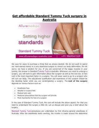 Tummy Tuck Australia