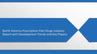 North America Prescription Pain Drugs Industry Report with Development Trends, Consumption Value Analysis and forecast s
