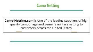Camo Netting