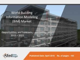 World Building Information Modeling (BIM) Market is Expected to Garner $11.7 Billion