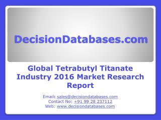 Global Tetrabutyl Titanate Market 2016: Industry Trends and Analysis