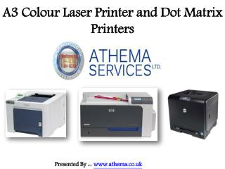 Online A3 Colour Laser Printer and Dot Matrix Printers in UK