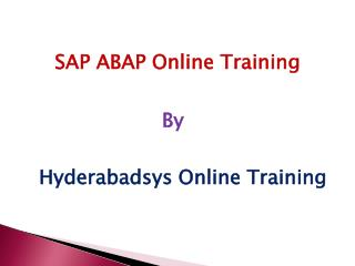 Good SAP ABAP Training | SAP ABAP Online Training in USA and Canada