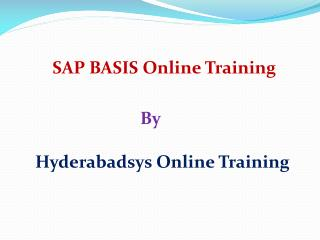 Good SAP BASIS Training | SAP BASIS Online Training in USA and Canada