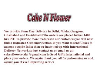 Gift a Cake and Flowers to Someone Special with Love