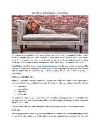Your Ultimate Sofa Buying Guide by AmerAdnan