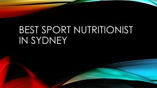 Best Sport Nutritionist in Sydney