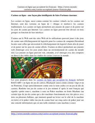 casino en ligne qui accepte les francais