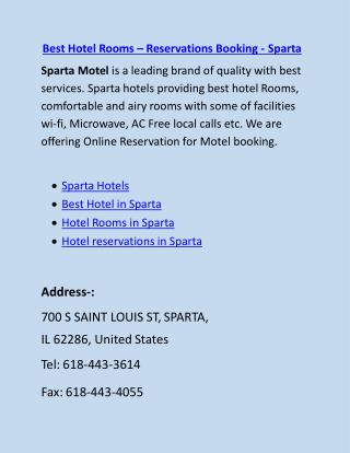 Best Hotel Rooms � Reservations Booking - Sparta