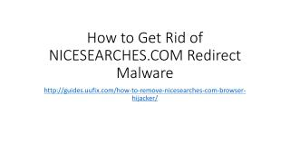 How to Get Rid of NICESEARCHES.COM Redirect Malware