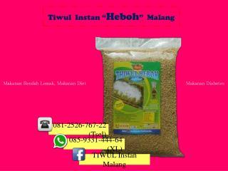 Tiwul Instan, Gatot Tiwul, Olahan dari Singkong, 085-9331-444-64 (XL)