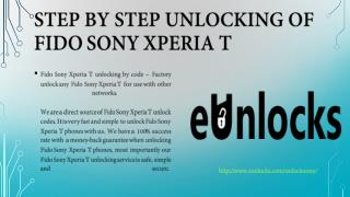 Step by Step Unlocking of Fido Sony Xperia T