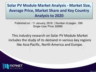 News on Global Solar PV Module Industry