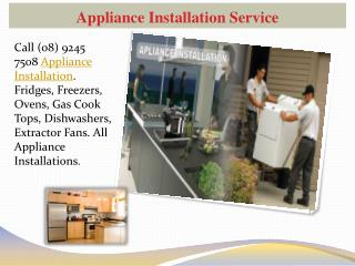 Appliance Installation Service