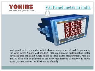 VAF Panel Meter in India