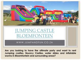 Hire jumping castle bloemfontein