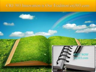 CRJ 303 Innovation is Our Tradition/crj303.com