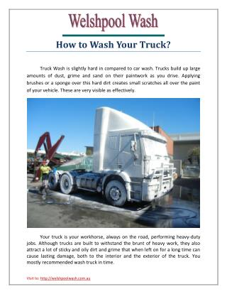 How to Wash Your Truck?